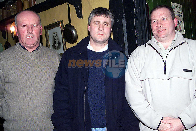 Paschal Folan, Ivan Curran and Declan Russell at St. Patrick's GFC fundraising launch in the Julianstown Inn..Picture: Paul Mohan/Newsfile