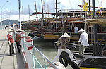 Halong-Vietnam, Ha Long - Viet Nam - 22 July 2005---On the jetty for the boats/cruisers to the famous Halong Bay, a UNESCO World Natural Heritage Site---tourism, traffic, transport, people---Photo: Horst Wagner/eup-images