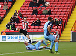 Stefan Scougall of Sheffield United scoring his teams second goal of the game during the Emirates FA Cup Round One match at Bramall Lane Stadium, Sheffield. Picture date: November 6th, 2016. Pic Simon Bellis/Sportimage