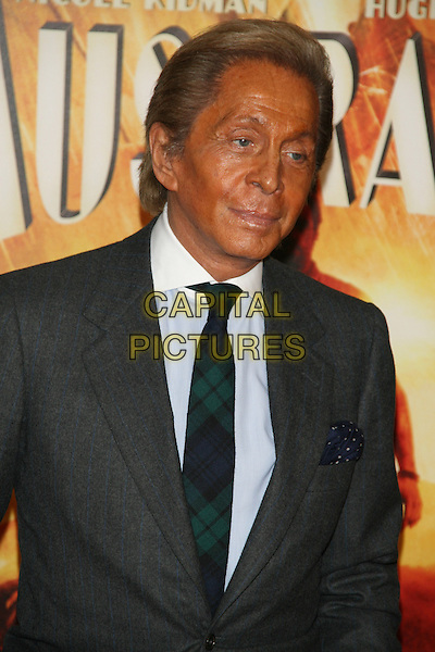 "VALENTINO GARAVANI.New York Premiere of ""Australia"" at the Ziegfeld Theater, New York, NY, USA..November 24th, 2008.half length grey gray suit tanned tan .CAP/LNC/TOM.©TOM/LNC/Capital Pictures."