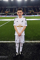 SWANSEA, WALES - MARCH 16: Child mascot<br />