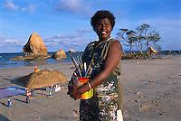 Rosella Namok - Artist, Quintells Beach,  Lockhart River, Cape York Peninsula.