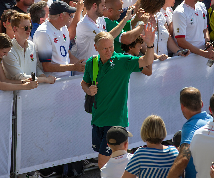 Ireland's Head Coach Joe Schmidt arrives at the ground<br /> <br /> Photographer Bob Bradford/CameraSport<br /> <br /> Quilter Internationals - England v Ireland - Saturday August 24th 2019 - Twickenham Stadium - London<br /> <br /> World Copyright © 2019 CameraSport. All rights reserved. 43 Linden Ave. Countesthorpe. Leicester. England. LE8 5PG - Tel: +44 (0) 116 277 4147 - admin@camerasport.com - www.camerasport.com