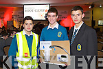 Mounthawk students pictured at the Young Entrepreneur Business Boot Camp in the Brandon Hotel, Tralee on Friday are, from left: Peter Karim, Conor O'Mahony and Skirmas Lelys.