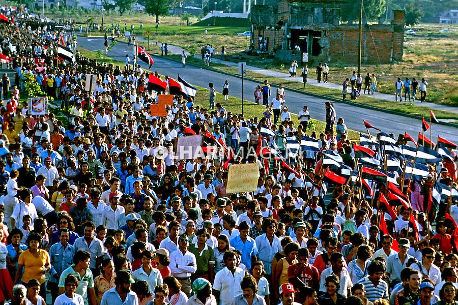 Festa da revolução sandinista em Manágua. Nicarágua. 1983. Foto de Cynthia Brito.