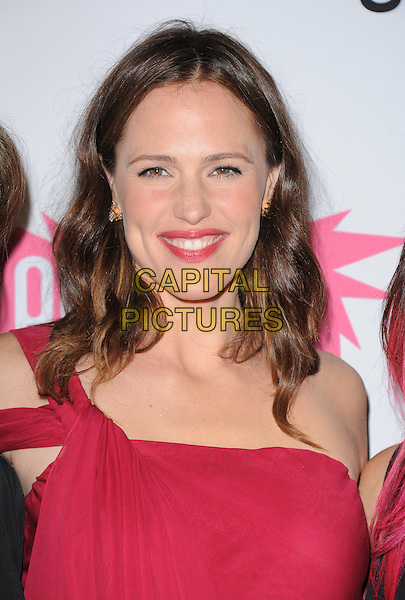 Jennifer Garner .attends The 7th Annual Pink Party held at Drai's Hollywood in Hollywood, California, USA, September 10th 2011.   .portrait headshot red lipstick straps shoulder  smiling  make-up beauty    one shoulder                             .CAP/RKE/DVS.©DVS/RockinExposures/Capital Pictures.