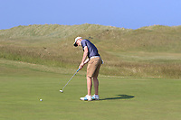 Marc McKinstry (Cairndhu) on the 15th green during Round 4 of the East of Ireland Amateur Open Championship 2018 at Co. Louth Golf Club, Baltray, Co. Louth on Monday 4th June 2018.<br /> Picture:  Thos Caffrey / Golffile<br /> <br /> All photo usage must carry mandatory copyright credit (&copy; Golffile | Thos Caffrey)