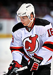 9 January 2010: New Jersey Devils' right wing forward Niclas Bergfors warms up prior to a game against the Montreal Canadiens at the Bell Centre in Montreal, Quebec, Canada. The Devils edged out the Canadiens 2-1 in overtime. Mandatory Credit: Ed Wolfstein Photo