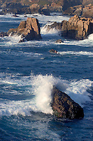 Waves crash through the rocks at GARAPATA STATE PARK - CALIFORNIA
