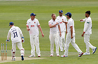 Jamie Porter of Essex  celebrates taking the wicket of Marcus O'Riordan during Kent CCC vs Essex CCC, Friendly Match Cricket at The Spitfire Ground on 27th July 2020
