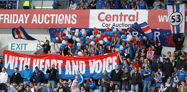 The Blue Order at Ibrox trying to create some atmosphere