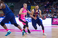 Estudiantes Ludde Hakanson and FC Barcelona Lassa Pau Ribas during Liga Endesa match between Estudiantes and FC Barcelona Lassa at Wizink Center in Madrid, Spain. October 22, 2017. (ALTERPHOTOS/Borja B.Hojas) /NortePhoto.com