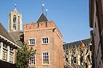 Buildings around Dom church, Saint Martin's Cathedral, Utrecht, Netherlands