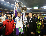 Gareth Bale of Real Madrid with the trophy during the Champions League Final match at the Millennium Stadium, Cardiff. Picture date: June 3rd, 2017.Picture credit should read: David Klein/Sportimage