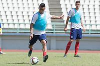 Port of Spain,Trinidad & Tobago - Sunday, November 15, 2015: The U.S. Men's National team train in preparation for their 2018 World Cup Qualifying match versus Trinidad & Tobago at Larry Gomes Stadium.