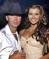 Kenny Chesney &amp; Ali Landry at the Post Party celebration for the first ever CMT Flameworthy Video Music Awards at the Gaylord Entertainment Center in Nashville Tennesee. 6/12/02<br /> Photo by Rick Diamond/PictureGroup.