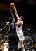 Robert Thurman of California shoots the ball during the game against Washington at Haas Pavilion in Berkeley, California on January 9th, 2013.   Washington defeated California, 62-47.