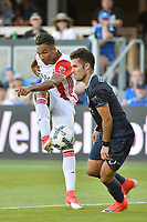 San Jose, CA - Saturday June 17, 2017: Danny Hoesen during a Major League Soccer (MLS) match between the San Jose Earthquakes and the Sporting Kansas City at Avaya Stadium.