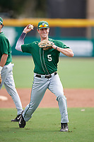 Dartmouth Big Green Nate Ostmo (5) during practice before a game against the USF Bulls on March 17, 2019 at USF Baseball Stadium in Tampa, Florida.  USF defeated Dartmouth 4-1.  (Mike Janes/Four Seam Images)