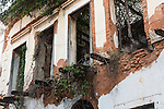 A derelict building in the historic colonial city of Old San Juan, Puerto Rico.