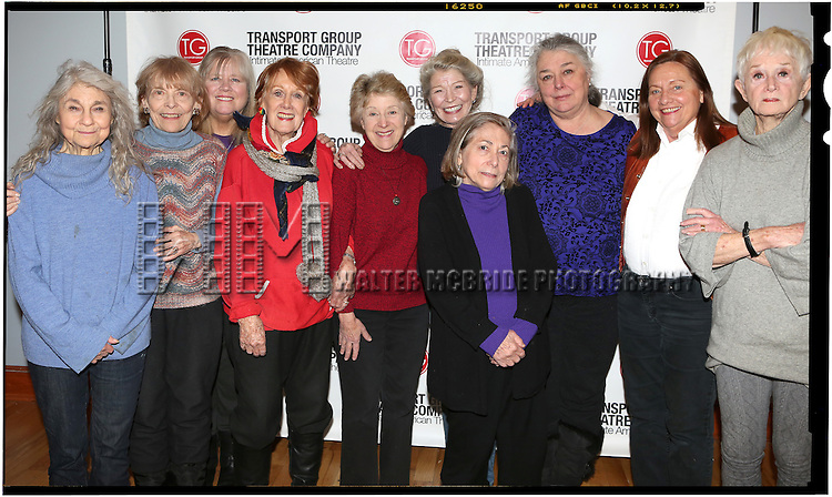 Lynn Cohen, Rita Gardner, Heather MacRae, Marni Nixon, Alice Cannon, Phyllis Somerville, Letty Serra, Barbara Andres, Dale Soules, and Barbara Barrie attend the Meet & Greet the cast of Transport Group's 'I Remember Mama'  on February 12, 2014 at the Clinton Cameo Studios  in New York City.