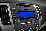 Stereo audio system close up detail view of a 2010 Hyundai Sonata GLS
