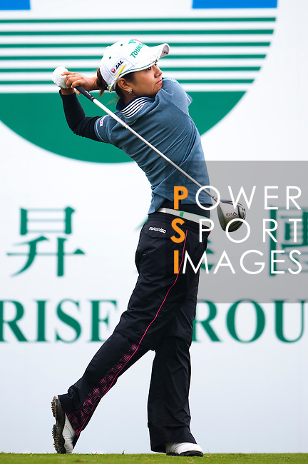 TAOYUAN, TAIWAN - OCTOBER 21: Ai Ai Miyazato of Japan tees of on the 1st hole during day two of the LPGA Imperial Springs Taiwan Championship at Sunrise Golf Course on October 21, 2011 in Taoyuan, Taiwan. (Photo by Victor Fraile/Getty Images)