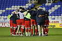 Stevenage victory huddle.Reading v Stevenage - FA Cup 3rd Round - Madejski Stadium,.Reading - 7th January, 2012.© Kevin Coleman 2012