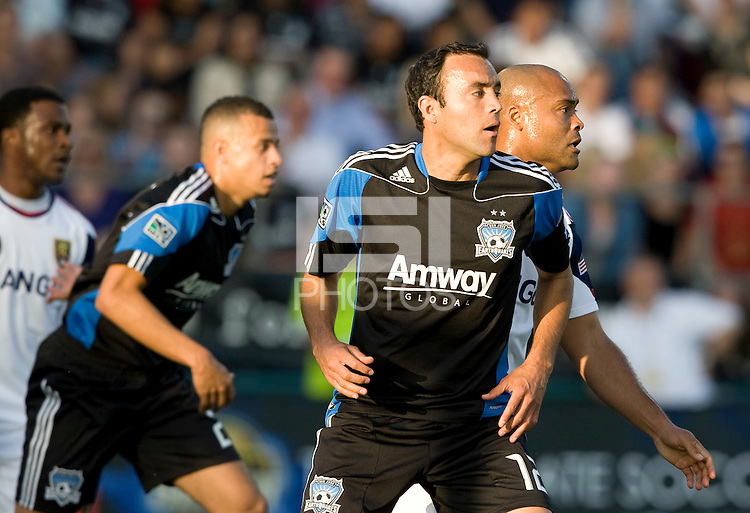 Ramiro Corrales of Earthquakes in action during the game against Real Salt Lake at Buck Shaw Stadium in Santa Clara, California on March 27th, 2010.   Real Salt Lake defeated San Jose Earthquakes, 3-0.