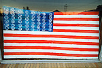 World's largest ball of twine and famous paintings with balls of twine by Cher Olson --U.S. Flag
