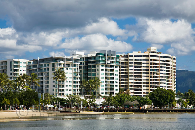 Highrise apartments on the Esplanade.  Cairns, Queensland, Australia