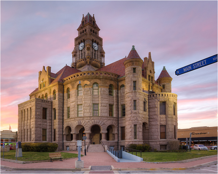 The Wise County Courthouse, seated in Decatur, Texas, was completed in 1897 and is the fourth courthouse constructed in the county. The third courthouse was destroyed by a fire in January, 1895...The courthouse is based on the cruciform plan and the Romanesque Revival architectural style  by J. Riely Gordon.