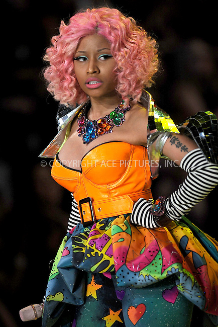 WWW.ACEPIXS.COM . . . . . .November 9, 2011 New York City....Nicki Minaj performs during the 2011 Victoria's Secret Fashion Show at the Lexington Avenue Armory on November 9, 2011 in New York City.....Please byline: KRISTIN CALLAHAN - ACEPIXS.COM.. . . . . . ..Ace Pictures, Inc: ..tel: (212) 243 8787 or (646) 769 0430..e-mail: info@acepixs.com..web: http://www.acepixs.com .
