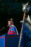 Rick Kash, vice chairman of the global consumer information analytics firm Nielsen, addresses the graduating class after receiving an honorary degree Sunday, June 11, 2017, during the DePaul University Driehaus College of Business commencement ceremony at the Allstate Arena in Rosemont, IL. (DePaul University/Jamie Moncrief)