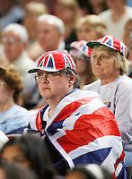 8-4-07, England, Birmingham, Tennis, Daviscup England-Netherlands, Supporter from England