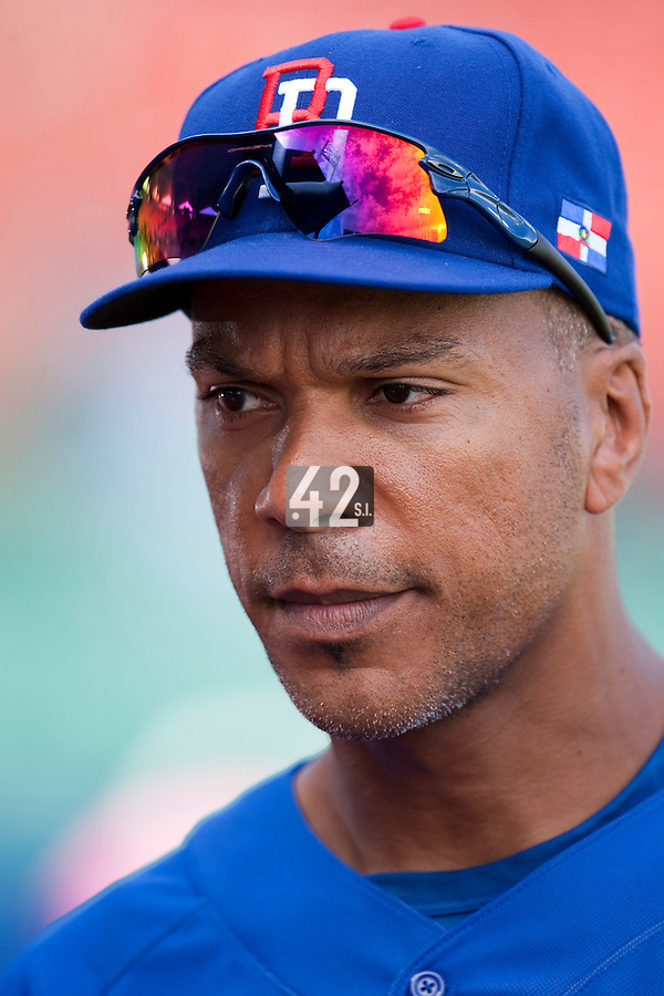 8 March 2009: #18 Moises Alou of Dominican Republic is seen prior to a game during the 2009 World Baseball Classic Pool D match at Hiram Bithorn Stadium in San Juan, Puerto Rico. Dominican Republic wins 9-0 over Panama.