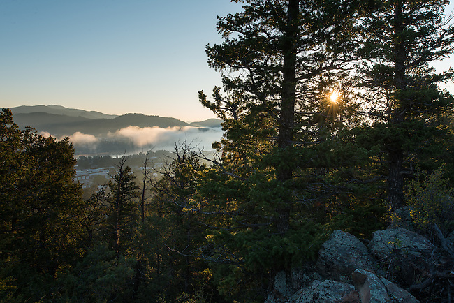 Rocky Mountain morning from Prospect Mountain in Estes Park, Colorado, USA