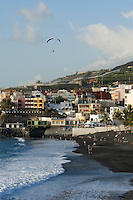 Spain, Canary Islands, La Palma, Puerto Naos: popular resort at the west coast with beach Playa de Puerto Naos