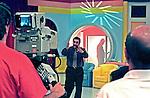 Programa do Ratinho nos estúdios da TV SBT. São Paulo.  1999. Foto de Juca Martins.