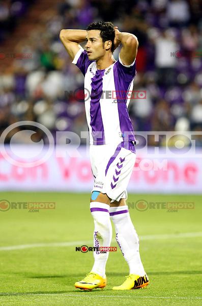 Real Valladolid´s Javi Guerra during La Liga match.August 31,2013. (ALTERPHOTOS/Victor Blanco)