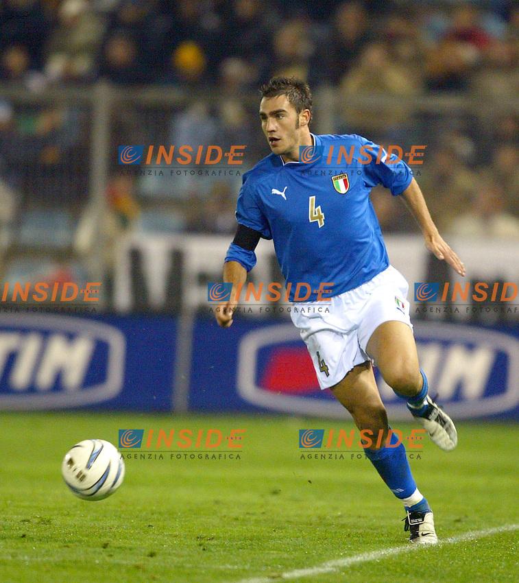 Rieti 19 Novembre 2003 Qualificazioni Campionato Europeo Under 21<br /> Italia Danimarca Under 21 0-0<br /> Paolo Cannavaro<br /> Foto Andrea Staccioli Insidefoto