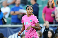 Cary, North Carolina  - Saturday September 09, 2017: Jessica McDonald prior to a regular season National Women's Soccer League (NWSL) match between the North Carolina Courage and the Houston Dash at Sahlen's Stadium at WakeMed Soccer Park. The Courage won the game 1-0.