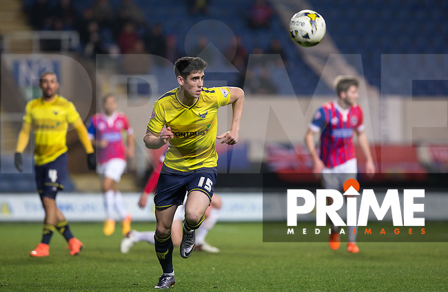 Callum O'Dowda of Oxford United in action during the Sky Bet League 2 match between Oxford United and Dagenham and Redbridge at the Kassam Stadium, Oxford, England on 15 March 2016. Photo by Andy Rowland.