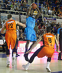 Montakit Fuenlabrada's David Wear (l) and Alex Llorca (r) and Alba Berlin's Dominique Johnson during Eurocup, Regular Season, Round 6 match. November 16, 2016. (ALTERPHOTOS/Acero)