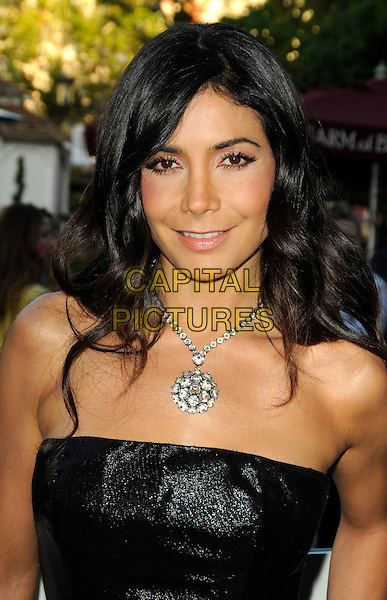 """PATRICIA MANTEROLA.""""The Perfect Game"""" Los Angeles Premiere held At The Pacific Theaters at the Grove, Los Angeles, California, USA. .April 5th, 2010 .headshot portrait silver necklace black strapless.CAP/ROT.©Lee Roth/Capital Pictures"""