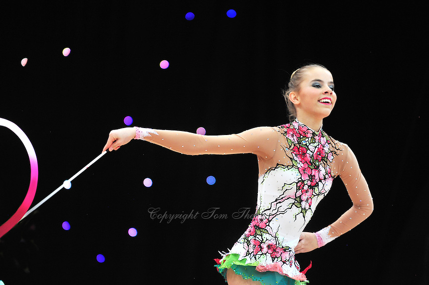"February 8, 2014 - Tartu, Estonia - JULIE BEYER BRUVIK (1999 junior) from Norway performs at ""Miss Valentine 2014"" international tournament."