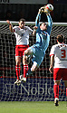 Adam Collin of Carlisle gathers under pressure from Jon Ashton of Stevenage. - Stevenage v Carlisle United - npower League 1 - Lamex Stadium, Stevenage - 17th April, 2012. © Kevin Coleman 2012