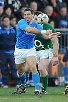 Pablo Canavosio (Italia)<br /> Italia vs Irlanda 11-13<br /> Six Nations Rugby<br /> Stadio Flaminio, Roma, 05/02/2011<br /> Photo Antonietta Baldassarre Insidefoto