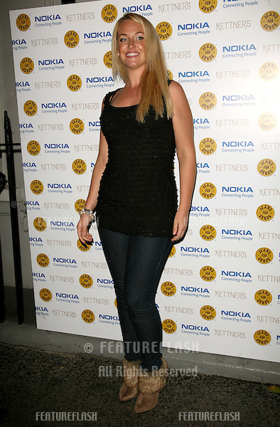 Josie Gibson arriving for the Jeans For Genes Launch Party, at Kettners, London. 06/09/2011  Picture by: Alexandra Glen / Featureflash