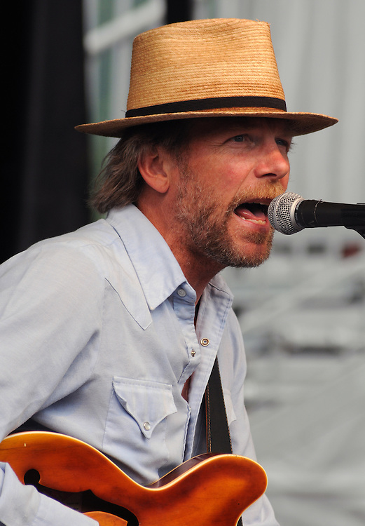 Photo of Tim Bluhm (vocals & Guitar), of The Mother Hips, performing at the Mountain Jam Music Festival of 2015, in Hunter, NY on Friday June 5, 2015. Photo by Jim Peppler. Copyright Jim Peppler 2015.
